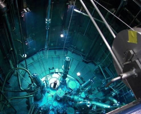 Blick auf die Reaktorbecken